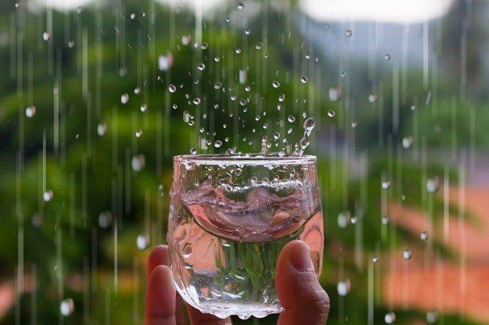 امکان آشامیدن آب باران