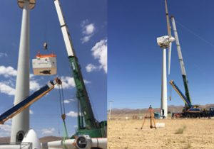 نصب اولین توربین بادی ۲۵۰ کیلووات